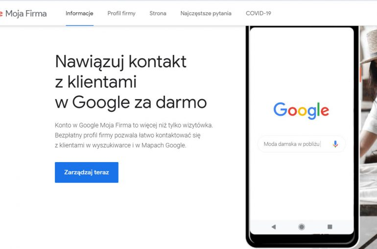 Wizytówka Google – bądź widoczny w sieci